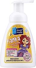 Perfumería y cosmética Espuma para higiene íntima infantil, Princesa 2, fondo amarillo - Skarb Matki Intimate Hygiene Foam For Children
