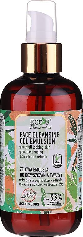 Emulsión gel facial con extracto de espinaca y pepino - Eco U Face Cleansing Gel Emulsion