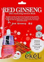 Perfumería y cosmética Mascarilla facial de tejido hidratante con extracto de ginseng rojo - Ekel Red Ging Seng Ultra Hydrating Essence Mask