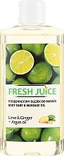 Perfumería y cosmética Aceite de masaje con argán y extractos de lima & jengibre - Fresh Juice Energy Lime&Ginger+Argan Oil