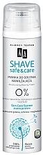 Perfumería y cosmética Espuma facial con aloe & glicerina sin perfume ni silicona - AA Shave Safe & Care