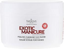 Perfumería y cosmética Exfoliante de manos con azúcar y manteca de karité - Farmona Egzotic Manicure Scrub