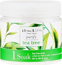 Perfumería y cosmética Sal de baño para pies con extracto de árbol de té - IBD Tea Tree Purify Pedi Spa Soak