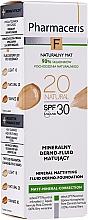 Perfumería y cosmética Fluido mineral matificante con protector solar - Pharmaceris F Mineral Mattifying Fluid Dermo-Foundation SPF 30