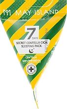 Perfumería y cosmética Mascarilla facial de noche con centella - May Island Seven Days Secret Centella Cica Sleeping Pack