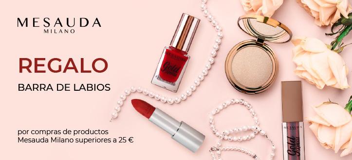 Por la compra de productos Mesauda Milano superior a 25 €, llévate una barra de labios de regalo