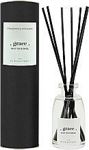 Perfumería y cosmética Ambientador Mikado, té de menta y albahaca - Ambientair The Olphactory Black Grace Mint Tea & Basil