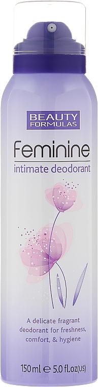 Desodorante para higiene íntima con aroma suave - Beauty Formulas Feminine Intimate Deodorant