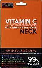 Perfumería y cosmética Mascarilla de tejido blanqueadora para cuello con vitamina C - Beauty Face IST Whitening & Restorating Neck Mask Vitamin C