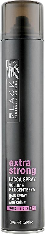 Laca voluminizadora de cabello, fijación extra fuerte - Black Professional Line Extra Strong