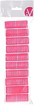 Perfumería y cosmética Rulos de velcro, 499600, rosa, d20mm, 10uds. - Inter-Vion
