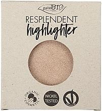 Perfumería y cosmética Iluminador facial orgánico - PuroBio Cosmetics Resplendent Highlighter (recarga)