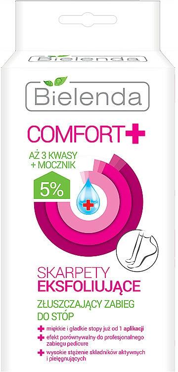 Calcetines exfoliantes impregnados con 5% ácidos y urea - Bielenda Comfort Exfoliating Socks