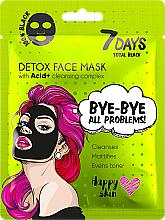 Perfumería y cosmética Mascarilla facial negra detoxoficante con complejo de ácidos frutales - 7 Days Total Black Bye bye All Problems Detox Face Mask