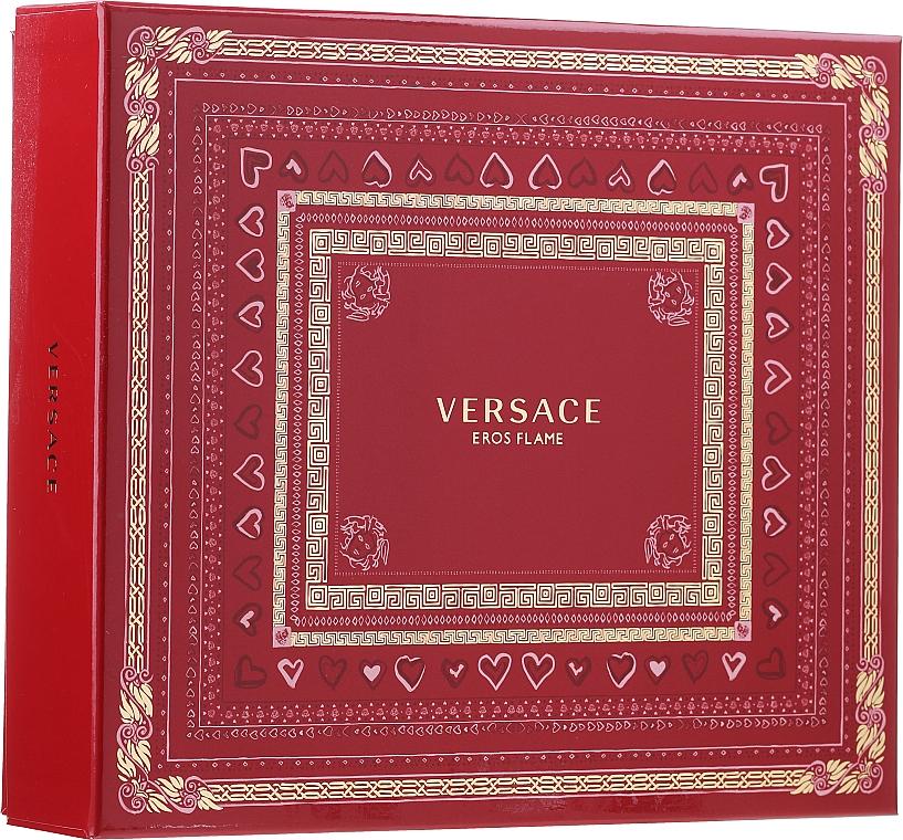 Versace Eros Flame - Set (eau de parfum/100 ml + gel de ducha/150 ml + eau de parfum/10ml)