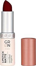 Perfumería y cosmética Barra de labios con efecto mate, orgánico - GRN Lipstick Matte