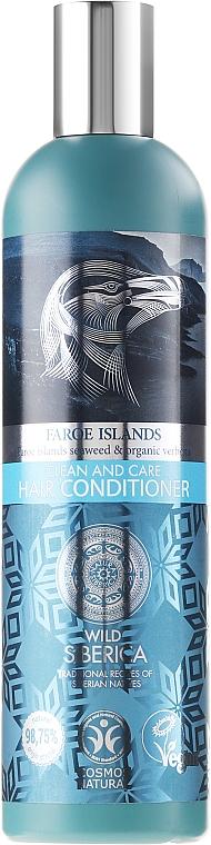 Acondicionador con algas de las islas Feroe y verbena orgánica - Natura Siberica Wild Siberica Clean & Care Hair Conditioner — imagen N1