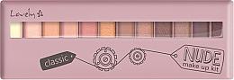 Perfumería y cosmética Paleta de sombras de ojos con aplicador - Lovely Classic Nude Make Up Kit