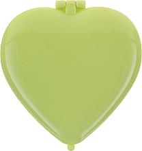 Perfumería y cosmética Espejo compacto en forma de corazón 85550, verde - Top Choice Colours Mirror