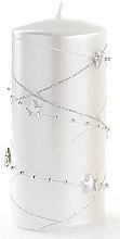 Perfumería y cosmética Vela decorativa, blanca, 7x10 cm - Artman Christmas Garland