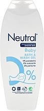 Perfumería y cosmética Gel de ducha y baño con 0% parabenos, colorantes y perfume - Neutral Baby Bath & Wash Gel