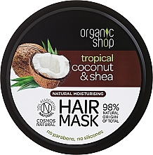 Perfumería y cosmética Mascarilla capilar natural con coco y manteca de karité - Organic Shop Coconut & Shea Moisturising Hair Mask