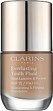 Perfumería y cosmética Base de maquillaje reafirmante e iluminadora SPF 15 - Clarins Everlasting Youth Fluid