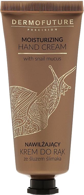 Crema de manos con baba de caracol y ácido hialurónico para pieles secas y agrietadas - Dermofuture Moisturizing Hand Cream