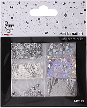 Perfumería y cosmética Set decoración de uñas 149313 - Peggy Sage Mini Kit Nail Art Argent (6uds.)