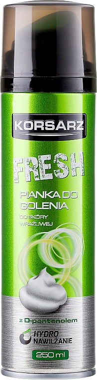 Espuma de afeitar con D-pantenol - Pharma CF Korsarz Fresh Shaving Foam