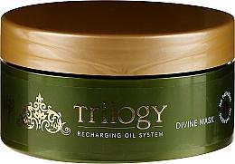 Perfumería y cosmética Mascarilla para cabello grueso y dañado con aceite de oliva y argán orgánico - Vitality's Trilogy Divine Mask
