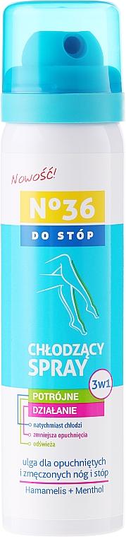 Spray refrescante para pies con hamamelis y mentol - Pharma CF No36 Foot Spray 3In1 — imagen N1