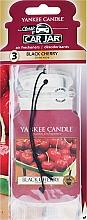 Perfumería y cosmética Ambientador de coche, cereza - Yankee Candle Car Jar Classic Black Cherry