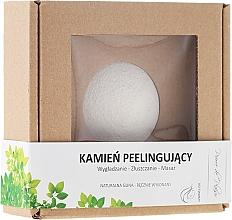 Perfumería y cosmética Piedra natural para exfoliación y masaje facial, blanca - Pierre de Plaisir Natural Scrubbing Stone Face