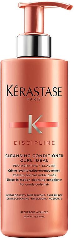 Acondicionador limpiador 2 en 1 para definición del cabello con pro-queratina y elastina - Kerastase Discipline Cleansing Conditioner Curl Ideal