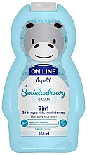 Perfumería y cosmética Gel de ducha infantil para cuerpo, cabello y rostro con aroma a crema - On Line Le Petit Cream 3 In 1 Hair Body Face Wash