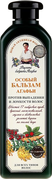 Acondicionador anticaída con hierbas siberianas - Las recetas de la abuela Agafia