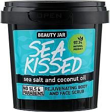 Perfumería y cosmética Exfoliante para rostro y cuerpo rejuvenecedor natural con sal marina y aceite de coco - Beauty Jar Rejuvenating Body And Face Scrub, Sea Kissed