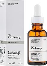 Perfumería y cosmética Sérum facial con 3% reservatrol y 3% ácido ferúlico - The Ordinary Resveratrol 3% + Ferulic Acid 3%