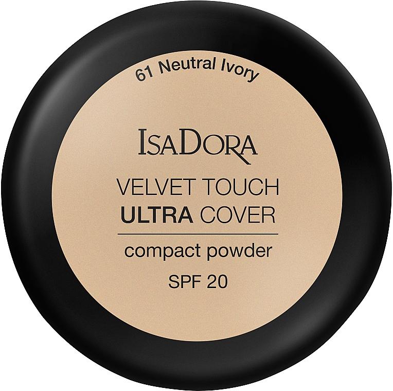 Práctica polvera compacta con cierre magnético - IsaDora Velvet Touch Ultra Cover Compact Powder SPF 20