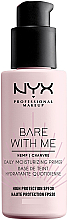Perfumería y cosmética Prebase de maquillaje hidratante con aceite de cáñamo, SPF30 - NYX Professional Makeup Bare With Me Hemp Deily Moisturizing Primer