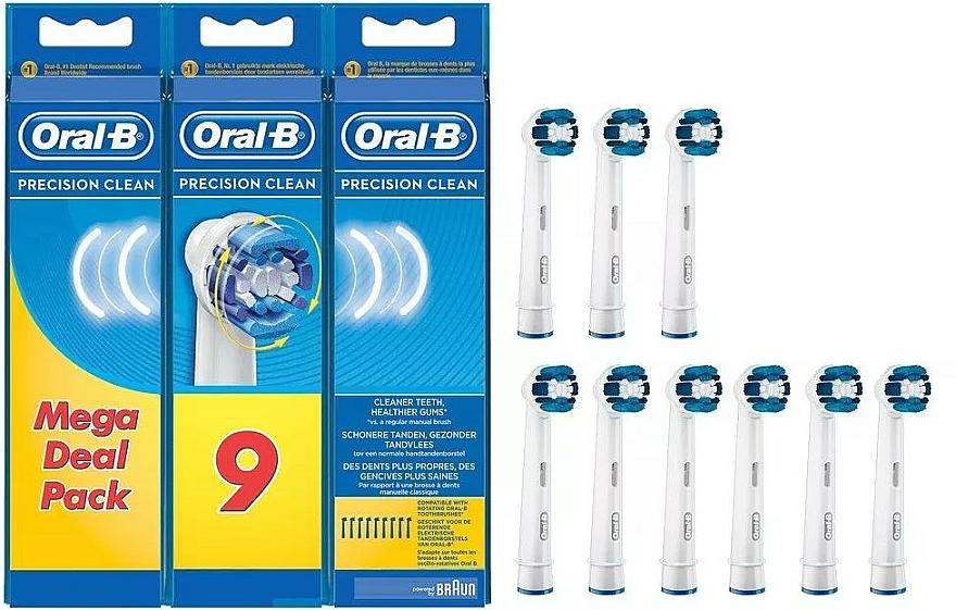 Cabezales de repuesto para cepillo dental eléctrico, 9uds. - Oral-B Precision Clean