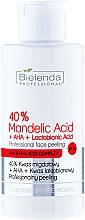 Perfumería y cosmética Exfoliante facial profesional con ácido mandélico y ácido lactobiónico - Bielenda Professional Exfoliation Face Program 40% Mandelic Acid + AHA + Lactobionic Acid
