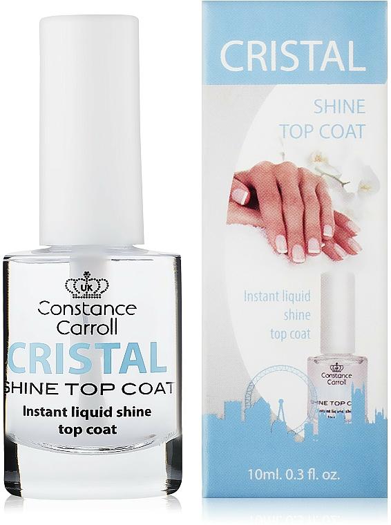Top coat con brillo, secado rápido - Constance Carroll Cristal Shine Top Coat