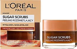 Perfumería y cosmética Exfoliante facial natural de azúcar con aceite de semilla de uva y monoi - L'Oreal Paris Sugar Scrubs