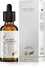 Perfumería y cosmética Sérum facial con aloe vera y té blanco - Nanoil Aloe & White Tea Face Serum