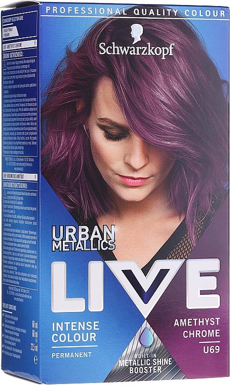 Tinte de cabello con oxidante - Schwarzkopf Live Urban Metallics Intense Colour
