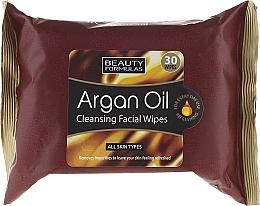 Perfumería y cosmética Toallitas limpiadoras con aceite de argán para todo tipo de piel - Beauty Formulas Argan Oil Cleansing Facial Wipes