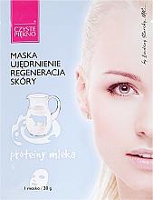 Perfumería y cosmética Mascarilla facial de tejido con ácido hialurónico y extracto de proteína de leche - Czyste Piekno Face Mask