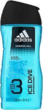 Perfumería y cosmética Gel de ducha perfumado - Adidas Ice Dive Body, Hair and Face Shower Gel